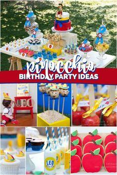 Pinnochio Themed Birthday Party