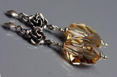 amazing golden shadow earrings