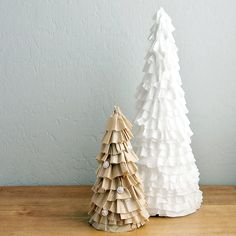 "Coffee-Filter Christmas Tree ~ love this ""recycling"" idea!"
