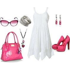 pretty summer outfit! i would wear pink shortsunderneath just in case