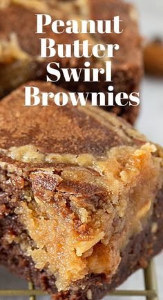 Incredibly gooey and delicious, this recipe for Peanut Butter Swirl Brownies takes these little morsels up a million notches! They are moist, have an amazing flavor, keep for days, and can be frozen! #peanutbutter #brownies #chocolate #easy #bars