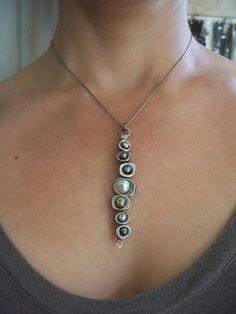 Collana di dichiarazione di perle d'acqua di dnajewelrydesigns