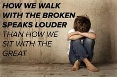 "So true! I know many that ditch ""the broken"", (even those they claim as friends) and only want to be seen with ""the great""! Little do they know, it won't get them far! :("