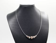 QVC MILOR Italy Solid Sterling Silver Diamond Cut Balls Pendant on Omega Chain