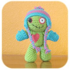 Crochet zombie w/ hat and mittens.