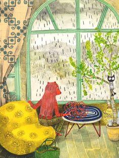 Auf milkmagazine.net  http://www.pinterest.com/littlesmiles4me/kids-illustrations/  #biblioteques_UVEG