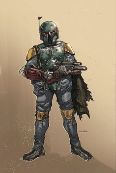 Brian Ching and I were hoping at some point to do a Boba Fett story so we did this little diddy.
