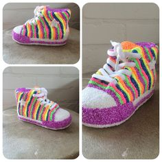 Spaarsneaker met foamclay Babyshower, Adidas Sneakers, Clay, Kids, Crafts, Clothes, Shoes, Fashion, Clays