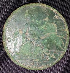 Victorian 1862 penny. Rare version.