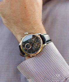 Carl von Zeyten CVZ0056BK - zegarek Forbach Twin Balance Automatic • Zegarownia.pl Smart Watch, Twins, Watches, Leather, Accessories, Fashion, Moda, Smartwatch, Wristwatches
