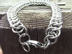 7 Stainless Steel Half-Persian Chainmaille Bracelet by NorseWorks