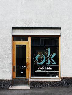 Omin Käsin, Helsinki, Riikka Kantinkoski & Susanna Vento. WINDOW DESIGN FONT TYPE