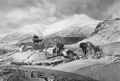 Mountains in Snow, Skiddaw (Rowland Hilder)