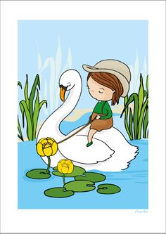 Swan print via Terese Bast Papershop. Click on the image to see more!