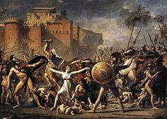 Enlèvement des Sabines, Jacques-Louis David, 1799, Musée du Louvres, Paris.