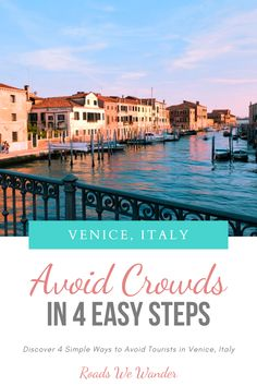 Learn how you can avoid the crowds in Venice, Italy. These 4 simple steps will help you get the photos you've always wanted and a kick-butt experience! Venice Travel, Rome Travel, Amazing Destinations, Vacation Destinations, Zanzibar Beaches, Visit Venice, Italy Travel Tips, Disney World Tips And Tricks, Disney World Vacation