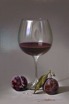 MULIO---RED-WINE-AND-PLUMS-OCTOBER-2013   - by Javier Mulió, known simply as Javier to collectors around the world