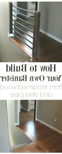 Rustic & Industrial Stair Banister How to Build Your Own Banis. Rustic & Industrial Stair Banister How to Build Your Own Banis… Farmhouse Stairs, Rustic Stairs, Industrial Stairs, Stair Banister, Banisters, Antique Farmhouse, Industrial Farmhouse, Entryway Mirror, Entryway Tables