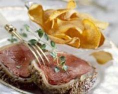 Filet de chevreuil à la moutarde, chips de patates douces (facile, rapide) - Une recette CuisineAZ