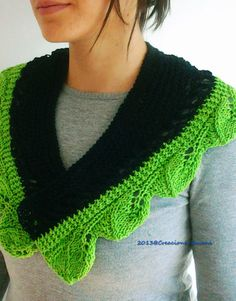 #Scarf #Leaves of Spring by CreacionesSusana #knit