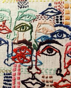 Textiles The Eames Office celebrates art of the century in 10 Mind-Blowing Textile Artists You Embroidery Art, Embroidery Stitches, Embroidery Patterns, Art Patterns, Textile Patterns, Tessa Perlow, Textile Artists, Fabric Art, Art Inspo