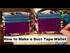▶ How To Make a Duct Tape Wallet Tutorial!! - YouTube