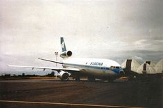 Mc Donnell Douglas DC-10-30CF   OO-SLC   (c/n47908). Nosegear collapse incident at Bujumbura airport 1988 (Coll SBAP)