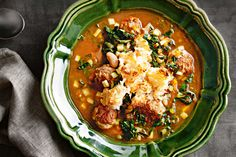 10 Most Misleading Foods That We Imagined Were Being Nutritious! Load Up On Winter Veg In This Hearty Ribollita With Italian Pork Meatballs. Mince Recipes, Meatball Recipes, Pork Recipes, Cooking Recipes, Meatball Soup, Chili Recipes, Diet Recipes, Healthy Recipes, How To Cook Meatballs