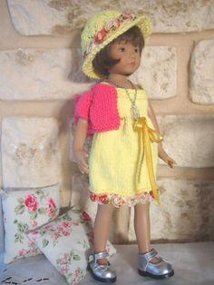 dress for 13 effner little darling ooak handknit set