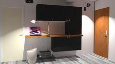Une entrée bureau fonctionnelle et intégrée Flat Screen, Desk, Cabinet, Storage, Furniture, Consoles, Home Decor, Afin, Ikea Hacks