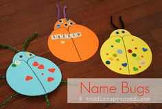 """bulletin board- Make heart shape, add names (first)   pictures for faces, """"""""our little love bugs"""""""