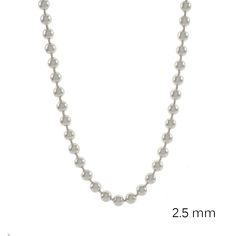 Sterling Silver 2.5 mm Ball Chain