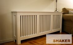 MDF Shaker-Style Radiator Cover from Fichman - © Fichman Custom Radiator Covers, Modern Radiator Cover, Baseboard Radiator, Baseboards, Radiator Heater, Steam Radiators, Modern Radiators, Designer Radiator, Shaker Style