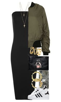 """""""Untitled #1356"""" by power-beauty ❤ liked on Polyvore featuring WearAll, Givenchy, Topshop, Fergie, adidas and H&M"""
