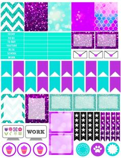 I love these Free Printable planner stickers. They will fit my life planner perfectly!
