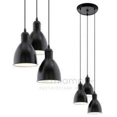 LAMPA wisząca PRIDDY 49465 Eglo metalowa OPRAWA zwis kaskada czarny
