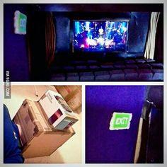 Time + box + phone = personal cinema. My greatest creation.