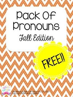 Pack Of Pronouns: Fall Edition by Simply Speech. 20 picture cards to practice and assess pronoun use with a fall theme! -repinned by @PediaStaff – Please Visit ht.ly/63sNt for all our pediatric therapy pins