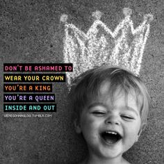 """Don't be ashamed to wear your crown ..... Britt Nicole """"You are worth more than gold"""""""