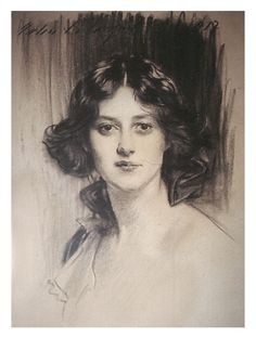 John Singer Sargent...he was very talented at sketches too. She is beautiful