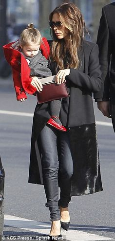 When in France! Ever-chic Victoria Beckham takes in the sights of Paris with…