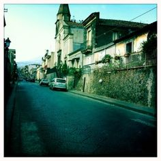 Belpasso, Prov of Catania, Sicily  One of the many streets that lead to the center of town.  We lived there when my son was a baby.