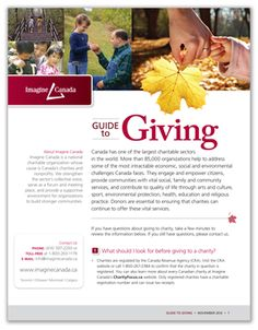 Imagine Canada's Guide to Giving. Answers questions many donors have about giving to charity. Non Profit, Giving, Charity, Journey, Canada, This Or That Questions, News, Face, Blog