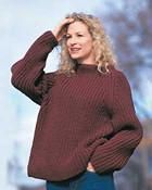 Bernat Chunky Shaker Rib Sweater To Knit