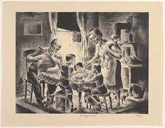 Hugh Botts (American, New York 1903-1964 Cranford, New Jersey). Supper Time, 1935-43. The Metropolitan Museum of Art, New York. Gift of the Work Projects Administration, New York, 1943 (43.33.86).