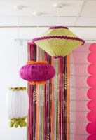 Deryn Relph's knitted lamp shades