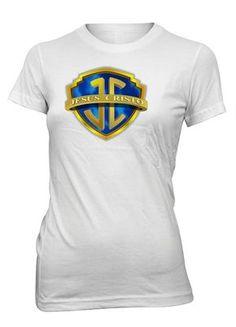 Jesus Cristo Jesucristo Logo Heroe Camiseta Cristiana Mujer