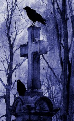 ✯ The Raven & the Cross :: Artist Unknown ✯
