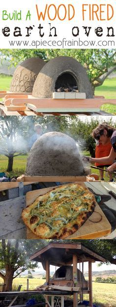 Build a wood fired earth oven with readily available materials, and make pizzas, breads, cookies! | via A piece of rainbow blog
