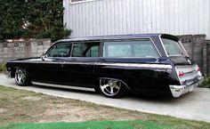 Way too low, but one sweet Shaggin Wagon! '62 Impala Wagon, my 2nd car. I still like a wagon.